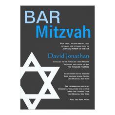 Bar Mitzvah Invitations Modern Bar Mitzvah Invitation Custom Announcements