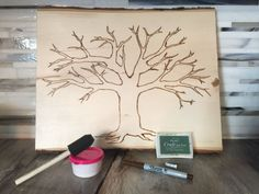 Wood-Burned Family Tree:  This Etsy kit comes with everything you need to DIY your own wood-burned family tree.