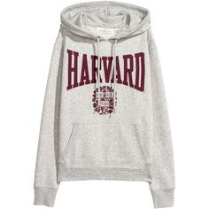 Printed Hooded Sweatshirt $24.99 (85 PLN) ❤ liked on Polyvore featuring tops, hoodies, patterned hoody, rib top, sweatshirt hoodies, hooded top and hooded pullover