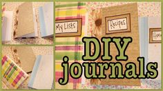 DIY: Journals I want to do this! It seems so simple!
