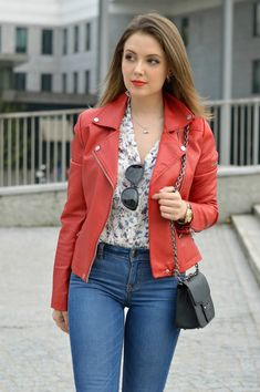 Outfit Jeans, Blazer Jeans, Leather Jacket Outfits, Sexy Jeans, Fashion Tights, Fashion Dresses, Stylish Dresses, Casual Dresses, Rosa Blazer