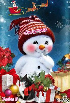 Christmas Tree Gif, Merry Christmas Images, Christmas Scenes, Christmas Wishes, Christmas Pictures, Christmas Snowman, Christmas Greetings, Christmas Time, Christmas Decorations