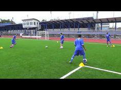 Barcelona Midfielder Drill - YouTube