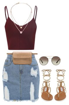 """""""Hot Summer Day"""" by princess-alexis18 ❤ liked on Polyvore featuring Steve Madden, Shaffer, Michael Kors and Prada"""