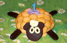 Postup na piškótovú tortu v tvare ovečky