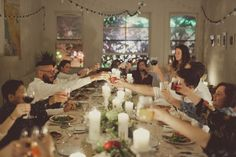 Entertaining: How to Throw a Dinner Party à la Twine - Twine Living Wildflower Centerpieces, Marry You, Holiday Parties, Holiday Dinner, Dinner Parties, Party Time, Dream Wedding, House Design, Houses