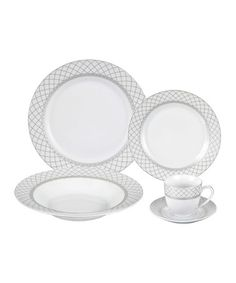 Look what in obught :) Verona Porcelain 20-Piece Dinnerware Set by Lorenzo Imports #zulily #zulilyfinds