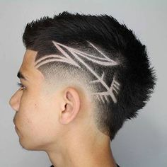 Designs in Haircuts For Guys - Best Hair Designs For Men: Cool Fade Haircut Designs For Guys and Boys Hair Designs For Boys, Haircut Designs For Men, Cool Hair Designs, Hair Tattoo Designs, Kids Braided Hairstyles, Boy Hairstyles, Trendy Hairstyles, Hair Tattoo Men, Hair Tattoos