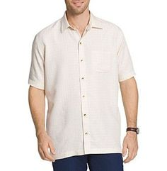 Van Heusen® Men's Big & Tall Short Sleeve Woven Button Down