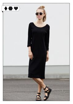 Dress Malala Rib Black (Jan n June): 95% Organic cotton aus der Türkei, 5% Elasthan Rib (GOTS zertifiziert) Fair produziert in Polen. VEGAN/ECO/SOCIAL/*95€* →