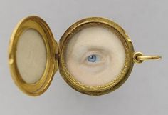"""Art Inconnu - Little-known and under-appreciated art.: World Miniature. """"The eye of Marie-Clémentine, Archduchess of Austria and princess of Salerno Artist unknown, French School. Eye Jewelry, Jewelry Art, Jewelery, Victorian Jewelry, Antique Jewelry, Lovers Eyes, Miniature Portraits, Eye Painting, Mourning Jewelry"""