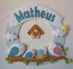 porta de maternidade passarinho menino - Pesquisa Google