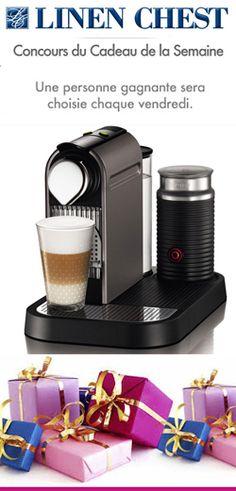 """Le concours """"Prix de la semaine"""" est de retour Site Web, Nespresso, Coffee Maker, Kitchen Appliances, Relaxer, Pageants, Gift, Coffee Maker Machine, Diy Kitchen Appliances"""