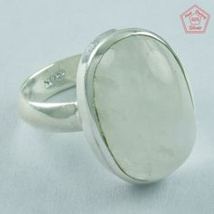 EXCLUSIVE RAINBOW MOON STONE 925 STERLING SILVER RING,R5035, Sz. 8.5 US #SilvexImagesIndiaPvtLtd #Statement #AllOccasions