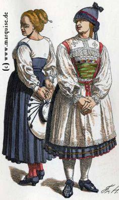 Württemberg (Schwenningen, Steinlach): Mädchen, um 1790