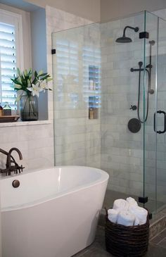 Use our collection of bathroom decorating ideas to inspire your next redesign. Whether your space is large or on the smaller size, these ideas will do the trick. #bathroomredesign