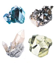 Carly Waito oil paintings of minerals and crystals