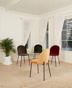 KHLOE Spisestol i Koksgrå med svarte ben