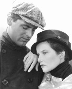 Katharine Hepburn and Cary Grant in the first film they ever made together SYLVIA SCARLETT (1935).