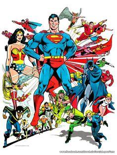 DC Comics Heroes by José Luis García López.