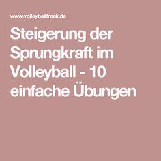 Steigerung der Sprungkraft im Volleyball - 10 einfache Übungen