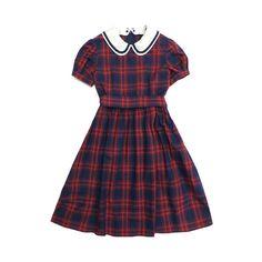 コットンタータンのコレットワンピース ❤ liked on Polyvore featuring dresses, op and purple dress