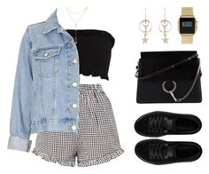 """""""Teenage crime"""" by baludna ❤ liked on Polyvore featuring Chloé, Zimmermann, Topshop, Puma, ASOS and Fragments"""