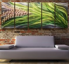 New Modern Metal Modern Abstract Wall Art by statements2000, $350.00