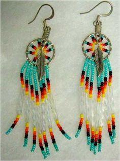 Beaded Native American Earring Patterns | Earrings, Native American Indian, beaded, #14 [S.XD]