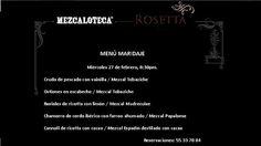 Mezcaloteca. Miércoles 27 febrero. 8.30 pm