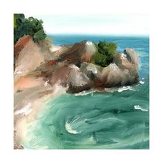 Big Sur by Lindsay Megahed for Minted- this might just be the prettiest painting I ever did see.