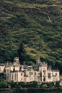 Kylemore Castle Abbey - Connemara, County Gallway, Ireland - built - Gothic architecture - since 1920 a monastery for Benedicatine nuns who fled WWI in Ypres, Belgium - The abbey was a world renowned boarding school for girls until 2010 October 1999 Places Around The World, Oh The Places You'll Go, Places To Travel, Places To Visit, Around The Worlds, Dream Vacations, Vacation Spots, Ireland Travel, Adventure Is Out There