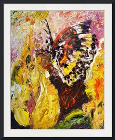 "#Butterfly On Yellow #Flower #Print of Original #Oil #Painting b"" by Ginette Callaway Imagekind.com -- Buy stunning fine art prints, framed prints and canvas prints directly from independent working artists and photographers."