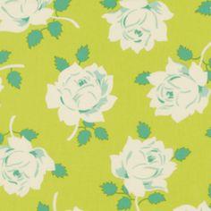 Heather Bailey - Lottie Da - Vintage Rose in Lime