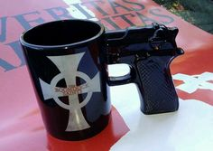 aww my Boondock Saints Lads My Coffee, Morning Coffee, Coffee Mugs, Saints Gear, Geek Out, Everyday Items, Nightmare Before Christmas, Craft Gifts, Guns