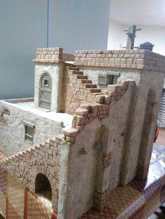 Christmas Nativity Scene, Christmas Crafts, Fontanini Nativity, Old Houses, Cribs, Medieval, Miniatures, Nerd Stuff, Jerusalem