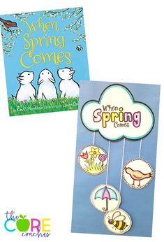 "Cute Mobile Craft for ""When Spring Comes"" by Kevin Henkes"