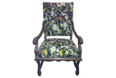 Antique French   Tapestry Armchair