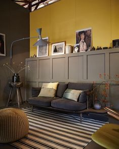 Normally I'm all about the bright colour or the incredibly dark and moody. Today for whatever reason, this sludgy grey-brown and ochre is totally catching my eye. It's funny how a cloudy day can bring out the autumn in me. ⠀ .⠀ .⠀ .⠀ from vtwonen February 2014 | 📷 by Alexander van Berge | Styling by Cleo Scheulderman⠀ .⠀ #designhounds #designlovers #decoratingwithcolour #interior123 #apartmentlife #apartmentdecor #sodomino #interiorinspo #interiorwarrior #abmathome #popyacolour…