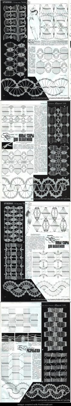 more hairpin crochet lace fabulousness; how clever to twist in top pic before working edge to give solid line
