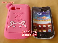 Silikon Soft Case Logo Android Samsung Galaxy Pocket S5300 Merah Hati (Pink) | KODE BARANG : 1336 | Toko Online Rame