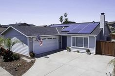 Free Solar Panels and More Info, // Solar panels installed on a home in California.
