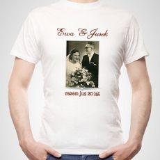 Koszulka personalizowana męska WSPOMNIENIE idealny na urodziny