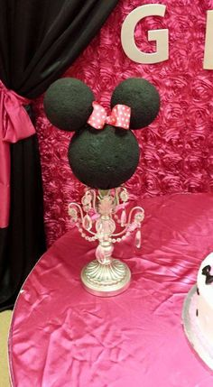 Minnie Mouse baby shower party! See more party planning ideas at CatchMyParty.com!
