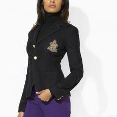 Blazer huppé en noir Ralph Lauren Polo Jackets, Polo Ralph Lauren, Black  Blazers, 199e92c07fe3