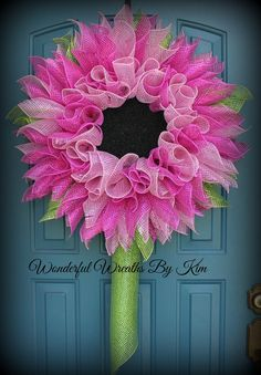 Hey, I found this really awesome Etsy listing at https://www.etsy.com/listing/233397596/gerbera-daisy-wreath-deco-mesh-flower