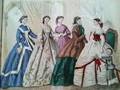 godey's 1863 fashion plate - Google Search