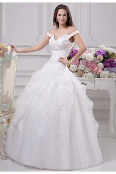 Schulterfrei Herz Ausschnitt Prinzessin Spitze Brautkleid Günstig $356.99 Brautkleider mit Spitze