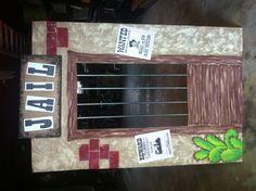 Cardboard Western Jail