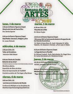 PUERTO RICO ART NEWS: Semana de las Artes en el Recinto de Mayagüez de l...